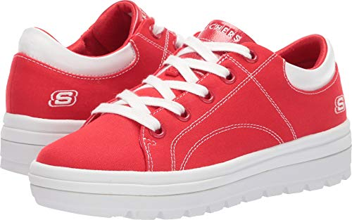 Skechers Street Cleat-bring It Back Sneaker Damen, Rot (Red Canvas/White Duraleather Trim Red), 39 EU
