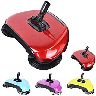 Vision RETAILSSweep Drag All-in-One Household Hand Push Rotating Sweeping Broom, Room and Office Floor Sweeper Cleaner Du...