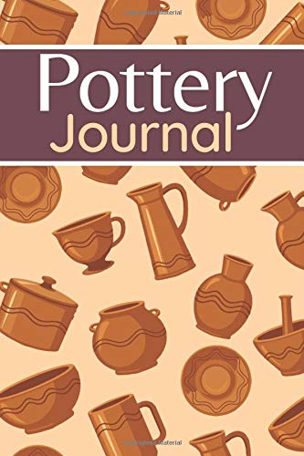 pottery journal: pottery projects logbook, 100 Project Sheets To Record Your Ceramic Work, Pattern Cover, Gift For Pottery Artists