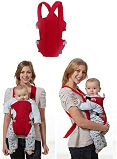 Baby Carrying Strap (can be held on the Back and the Chest) - Red