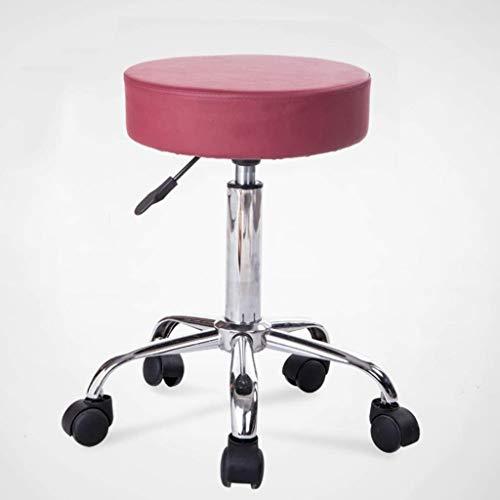 Yxsd Taburete de elevación Taburete de Belleza Fisioterapia Masaje Silla de uñas Peluquería Taburete de recepción Taburete de Oficina Taburete de Oficina (Color : B-Red)