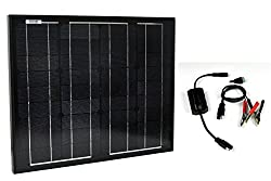 Instapark SP Series Mono-crystalline Photovoltaic PV Solar Panel Charge Controller Included, 30 Watts