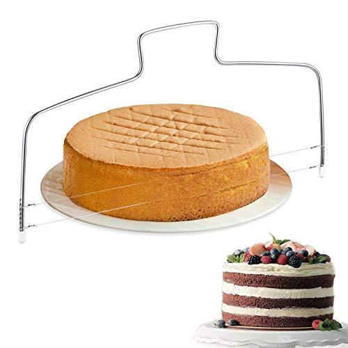 Lot de 2 emporte-pièces réglables en acier inoxydable pour gâteau de mariage, d'anniversaire, 32 cm