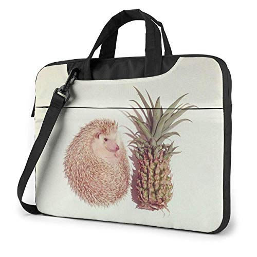 15.6″Lightweight Laptop Notebook Shoulder Backpack Bag Hedgehog and Pine Waterproof PC Briefcase Messenger with Strap