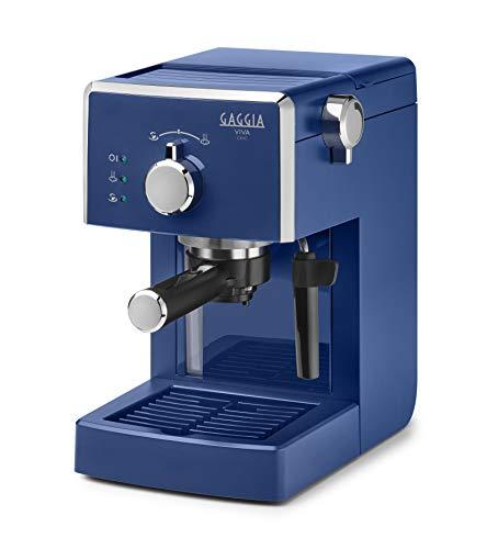 Gaggia Viva Chic Midnight Blue Macchina Manuale per Il caffè, 1025 W, 1 Liter, ABS