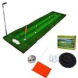 JUYHTY Campo De Golf De Interior-Juego De Calle Verde TamañO 300 Cm × 75 Cm-4 Tipos De Accesorios (MáS Putter) -Adecuado para La PráCtica del Hogar/Oficina