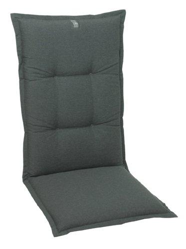 GO-DE 20358-01 Sesselauflage, hoch, circa 120 x 50 x 8 cm, uni anthrazit