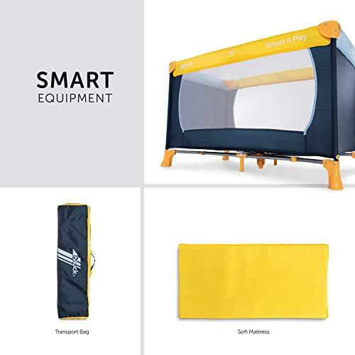 Hauck Kinderreisebett Dream N Play / inklusive Einlageboden und Tasche / 120 x 60cm / ab Geburt / tragbar und faltbar, Mehrfarbig - 3
