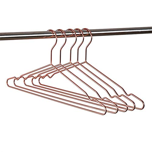 TASJS Perchas de Ropa de Rosa Fuerte for Adultos de 17 Pulgadas, Perchas, Perchas, Perchas, Perchas, Perchas, Perchas de Camisa, Ropa de Trabajo Pesado (Color : Rose Gold)