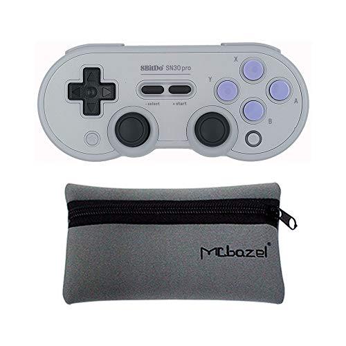 Mcbazel 8Bitdo SN30 Pro SN Edition Bluetooth 4.0 Gamepad für Windows/Android/MacOS/NS-Switch mit Mcbazel Aufbewahrungstasche