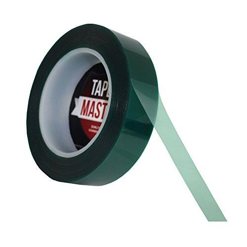 "1"" X 72 Yds - Tapes Master 2 Mil Green Powder Coating Masking Tape - High Temperature"