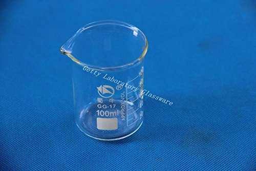 1 pieza 100 ml Lab vaso de cristal, con boca ancha, Material...