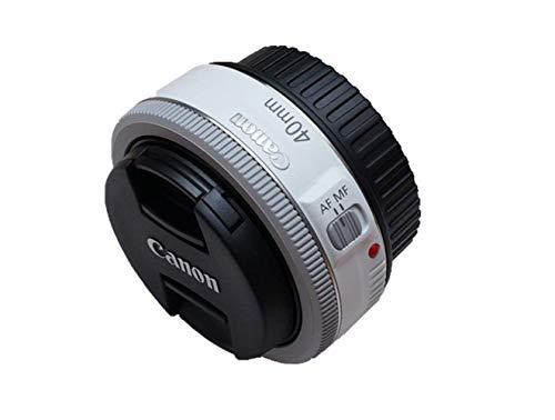 Canon EF 40mm f/2.8 STM Pancake Lens (White) (Renewed)