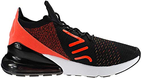 Nike Women's WMNS Air Max 270 Flyknit, Black/Yellow Strike, 8.5 US