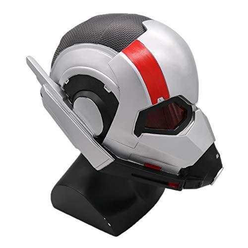 FMBK666 Casco Ant-Man, máscara de PVC de Cara Completa, máscara de Los Vengadores, Casco de Disfraz Coleccionable Brillante, Accesorios de Cosplay de Halloween