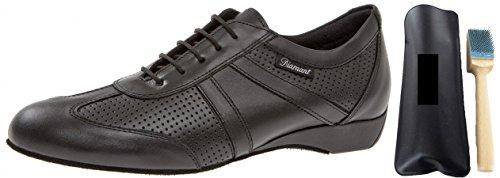 Diamante 133–225–042Hombre Zapatos de Baile Incluye MC de Danza aufrauh Cepillo, Color Negro, Talla 44