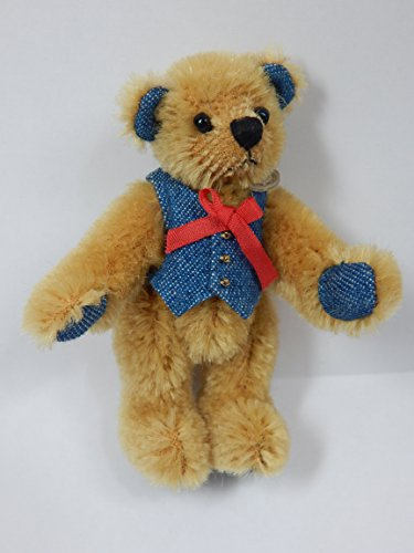 "World of Miniature Bears 3.5"" Mohair Bear for Bing #GB22051 Blue Foot"