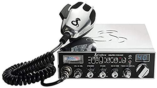 Cobra 29LTDCHR Professional CB Radio – Emergency Radio, Travel Essentials, Chrome, Talk Back, Instant Channel 9, 40 Channels, SWR Calibration