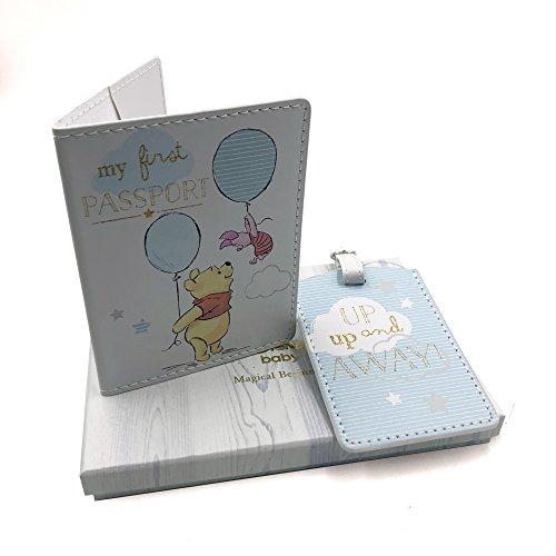 Disney Magical Beginnings Passport & Luggage Tag Set Winnie The Pooh Boy DI429, 200 g