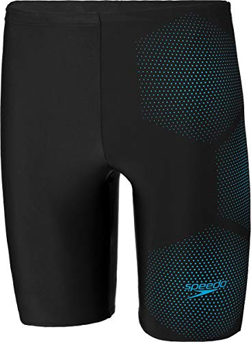 Speedo Tech Logo Jammer Herren tech Black/Pool Blue Größe DE 5 | US 34 2020 Badehose