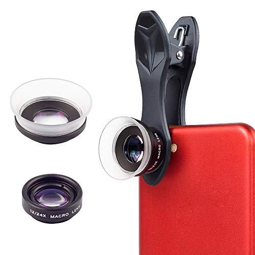 【最近進化版】APEXELマクロレンズスマホ12x/24xマクロレンズスマホ用レンズスマホ用撮影セットクリップ式レンズスマートフォン用カメラレンズ簡単装着iPhoneAndroidなどに適用されます。