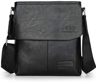 جيب حقيبة للرجال اللون الأسود حقيبة كتف بشيال طويل