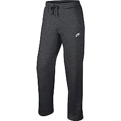 top 10 men nike sweatpants Nike Sportswear Men's Clubwear Open Hem Pants, Dark Gray / White, Size X-Large