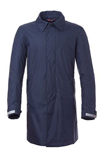 Tucano Urbano 8917MF026BS3 INDRO - Windbreaker en ademend 31/10 length single breasted techno regenjas, donkerblauw, maat S