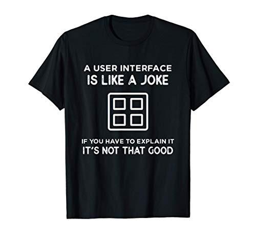 A User Interface Designer Is Like A Joke Design For UIUX T Shirt