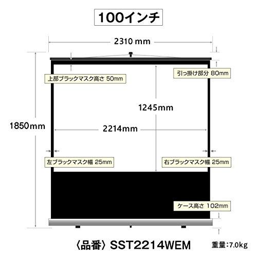シアターハウス『モバイル自立スクリーン16:9100インチ(SST2214WEM)』
