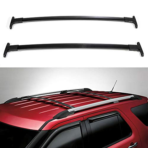ECCPP Car Top Luggage Carrier Bar Black Fit for 2016 2017 2018 2019 Ford Explorer Sport Utility,Aluminum Roof Rack Cross Bars