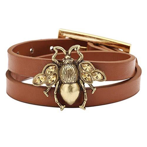 Jespeker Handmade Unisex Leather Bracelet Adjustable Cuff Wristband Vintage Alloy Bracelet Wristband Unisex Adjustable Leather Bracelet Wrist Cuff Bracelets
