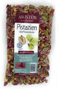 Pistazienkerne | Pistazien ohne Schale | Rohe Pistazien ohne Salz | Baklava Nusstorte Pistazien-Eis | Aegina Griechenland | 250 g Beutel | ARISTOS (1)