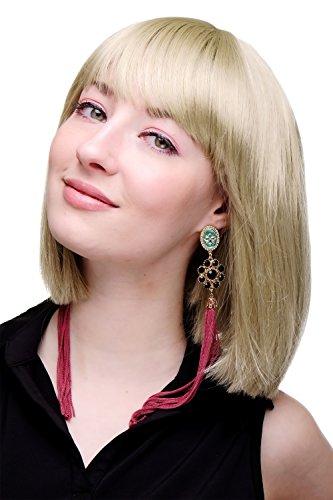 WIG ME UP - Perruque Sexy, Style Femme De Chambre, Carré Plongeant Blond Doré Lisse 25Cm