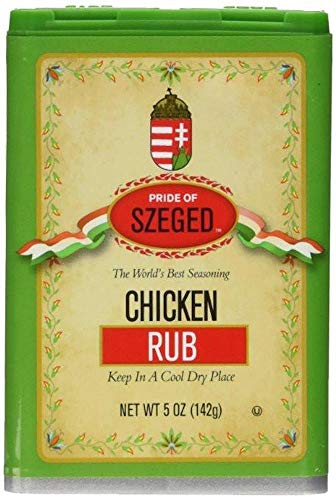 Pride of Szeged Chicken Rub Poultry Seasoning Spice Mix, 5oz. Tin (142g), 1-Count