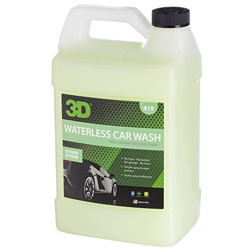 3D Waterless Car Wash - 1 Gallon | Spray On Easy Express Clean | Environmentally Friendly & Biodegradable Auto Care | Made in USA | All Natural | No Harmful Chemicals