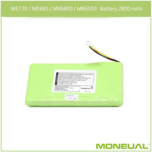 Moneual - Akku | Batterie | LiFePo4 | 2800mAh | Für Modelle ME770 / ME685 / MR6800 / MR6500 | Ersatzteil | Zubehör