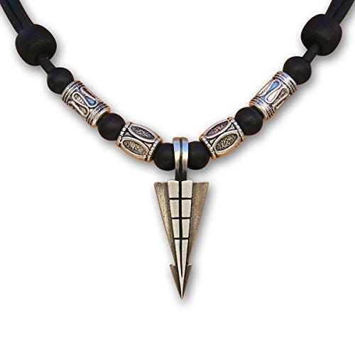 HANA LIMA ® Surferkette Lederkette Halskette Herren Damen Metallanhänger Herrenkette