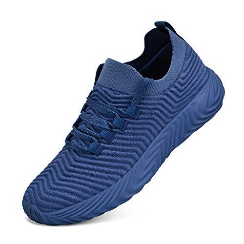 ZOCAVIA Turnschuhe Damen Laufschuhe Atmungsaktiv Sportschuhe Wanderschuhe Leichte Mesh-Bequeme Schuhe, Dunkelblau, 43 EU