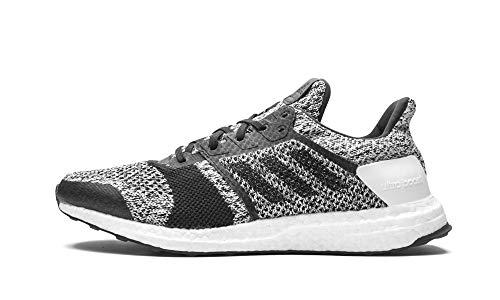 adidas Men's Ultraboost ST Running Shoe, White/Black/Silver Metallic, 7 M US