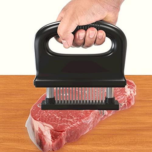 SHENGDASI Sujerizador De Carne con 48 Cuchillas De Acero Inoxidable, Herramienta De Cocina De Cocina Mejor para Ablandar, Barbacoa, Marinada