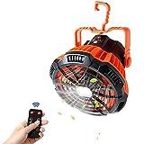 Ventilateur de camping avec lanterne à LED, ventilateur de tente portable avec crochet suspendu, ventilateur de bureau USB rechargeable avec distant infrarouge pour Camping Home Bureau
