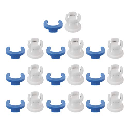 ZZALLL 10Sets Bowden Tube Clamp Pipe Horse Clip Fixed 6mm 3D Printers Parts Shoe Coupling Collet Part