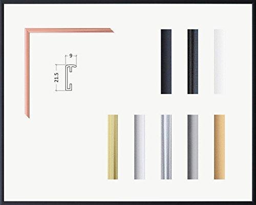 Kimberly Echt Aluminium Bilderrahmen 90 x 170 cm genaue Größe wählbar 170x90 cm Hier Schwarz matt mit Acrylglas Antireflex 2 mm