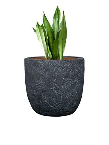 Pflanzwerk® Pflanzkübel Cup - Blumentöpfe Übertöpfe Ø27cm Lava ANTHRAZIT *Frostbeständige Blumenkübel* *UV-Schutz* *Deutsche Pflanzenkübel Qualität*