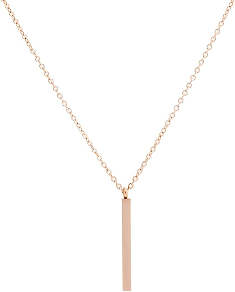 Jude Jewelers Stainless Steel Long Bar Drop Y-Chain Classical Simple Necklace