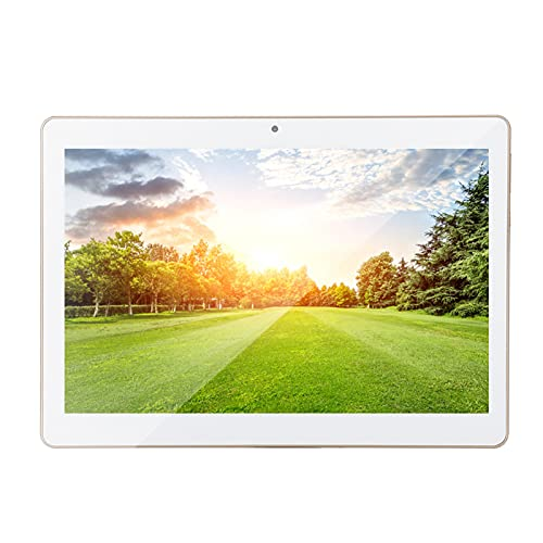 Tablet Pc 10In Hd Tablet Oro 1+16G Per Android 4.4 100-240V Tablet Pc Android 3G Wifi Funzione Dual Camera Gps Con cavo USB Per tablet PC Android per studenti (bianca)