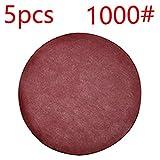 Niedriger Preis 5pcs 125 mm Runde Schleifpapier Scheibe Sand Sheets Grit 80-1000 Hakenschleife Schleifscheibe für Schleifkörner rot Polierscheiben, rot, 125mm