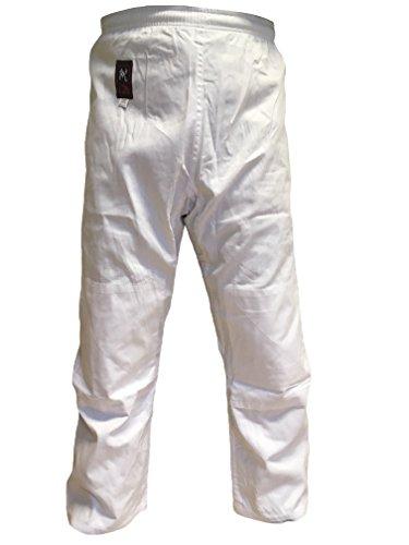 Budodrake Shiatsu Hose weiß (mit Elastikbund und zusätzlicher Schnürkordel) (XL)