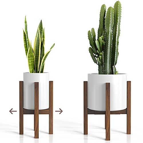 Sophia Mills Mid Century Plant Stand - Solid Wood Modern Indoor Plant Holder -...
